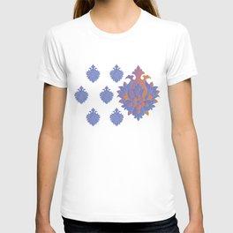 Shah-Abbasi Flower (Blue) T-shirt