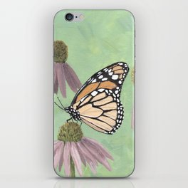 Monarch Butterfly Art, Orange Butterfly Painting iPhone Skin