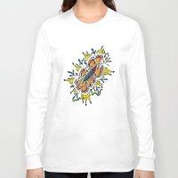 zentangle Long Sleeve T-shirts featuring Zentangle #2b by ShaMiLa