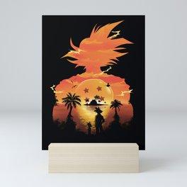 Goku Sunset Mini Art Print
