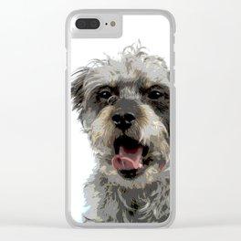 Yawning Dog Clear iPhone Case