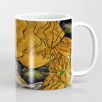superheros Mugs featuring We are Groot by Tiffany Saffle