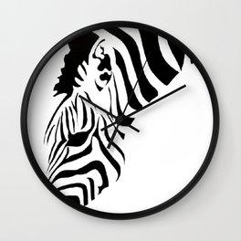 Grazing Zebra Wall Clock