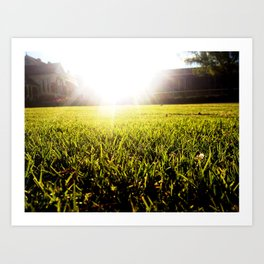 and the grass is always greener.. Art Print