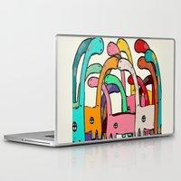 disco Laptop & iPad Skins featuring Dino Disco by bri.buckley