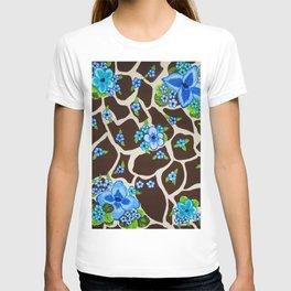 Floral giraffe print T-shirt