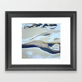 snow hunting Framed Art Print