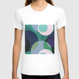 Purple Teal Blue Circle Abstract T-shirt