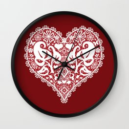 You . With Love . Wall Clock