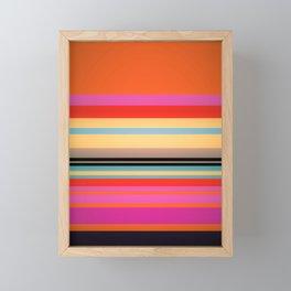 Sunset Stripes Framed Mini Art Print