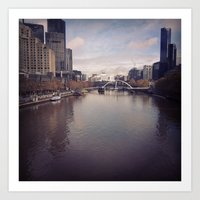 melbourne Art Prints featuring Melbourne by Sam Warren