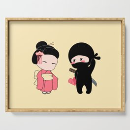 Tiny Ninja and Geisha Serving Tray
