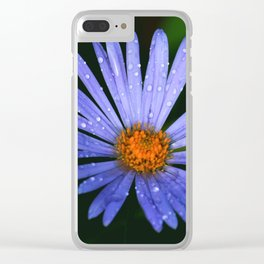 Blue Daisy Clear iPhone Case