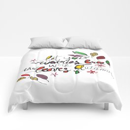 Let Your Worries Fall with the Leaves of Autumn Watercolour Comforters