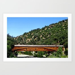 California Bridgeport Covered Bridge Art Print
