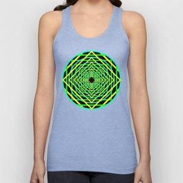 Diamonds in the Rounds Blacklight Neons Yellow Greens Unisex Tank Top