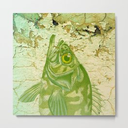Big Green Fish Metal Print