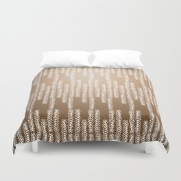 Eye of the Magpie tribal style pattern - gold Duvet Cover