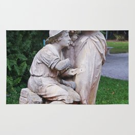Ringling Rose Garden Statuary I Rug