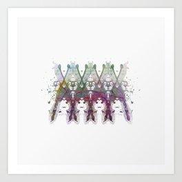 Inknograph XXIII - Rorschach Art Art Print