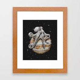 Celestial Cephalopod Framed Art Print