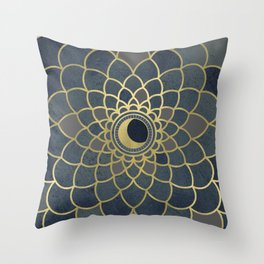 Mystical Moon Mandala Throw Pillow