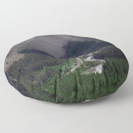 Awesome Kicking Horse Pass, Canadian Rockies Floor Pillow