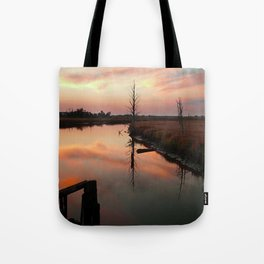 Sunset on Smith Creek Wilmington, NC Tote Bag