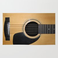 guitar Area & Throw Rugs featuring Guitar by Nicklas Gustafsson