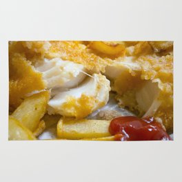 Cod Chips and Ketchup Rug