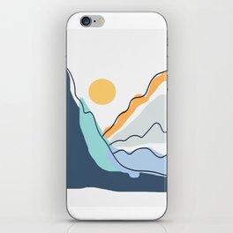 Minimalistic Landscape II iPhone Skin