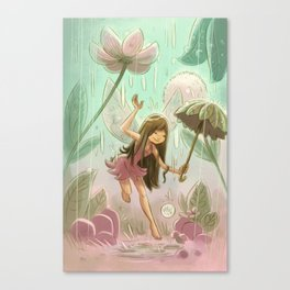 Goblins Drool, Fairies Rule! - Dewdrop Shower Canvas Print
