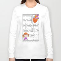 labyrinth Long Sleeve T-shirts featuring labyrinth by Christina Tsevis