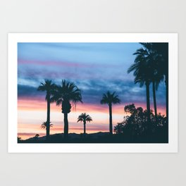 Faded Tropical Sunset (Color) Art Print