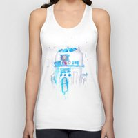 r2d2 Tank Tops featuring R2D2 by sooarts