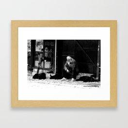 Contemplating in Bosnia Framed Art Print