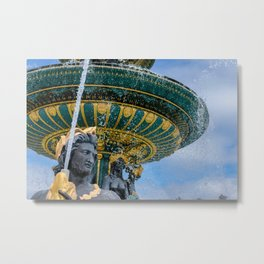 Fountain at Place de la Concorde Paris Metal Print
