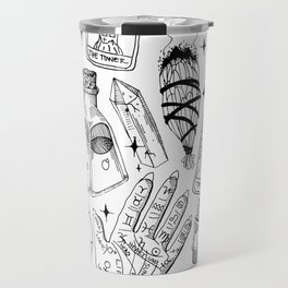 Fortune Teller Starter Pack Black and White Travel Mug