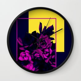 Neon Succulents #society6 #succulent Wall Clock