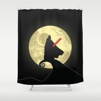 nightmare before christmas Shower Curtains featuring Vader's Nightmare Before by kamonkey