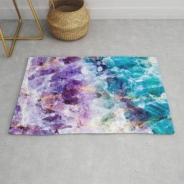 Multicolor quartz texture Rug