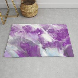 Violet Flower Garden Rug