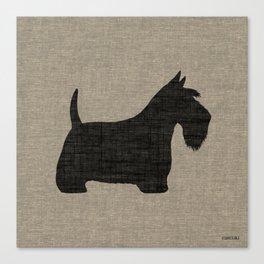 Scottish Terrier Scottie Silhouette Canvas Print