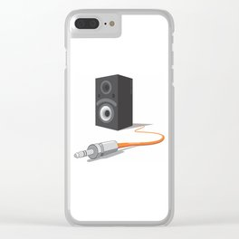 unplug the glance Clear iPhone Case