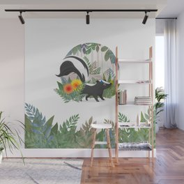 Skunk in the forest Wall Mural