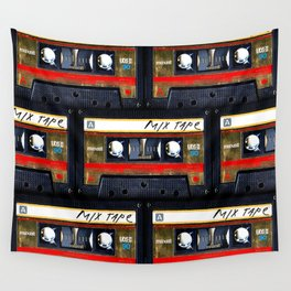Retro classic vintage gold mix cassette tape Wall Tapestry