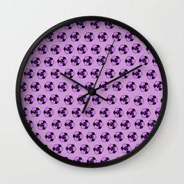 Lavender Purple Flower Pattern Wall Clock