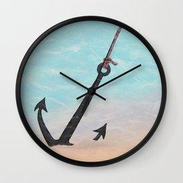 Anchored to Hope Wall Clock
