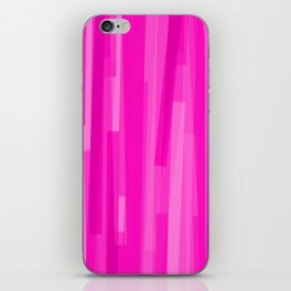 Geometric Pink Painting iPhone Skin