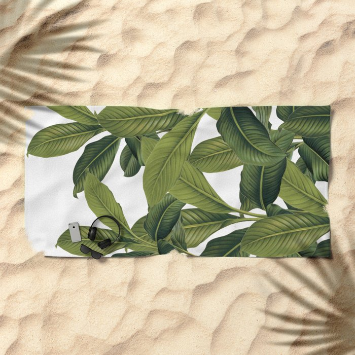 Love these leaves Beach Towel